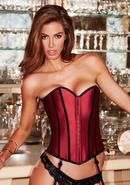 Satin Heart Corset Red/blk L
