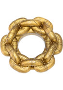 Link 1 Silicone Cockring Chain Bronze Small