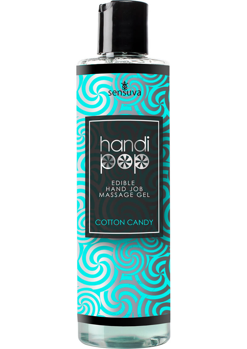 Handipop Edible Hand Job Massage Gel Cotton Candy 4.2 Ounce